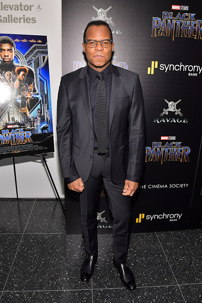 "Black Suit「The Cinema Society Hosts A Screening Of Marvel Studios' ""Black Panther""」:写真・画像(16)[壁紙.com]"
