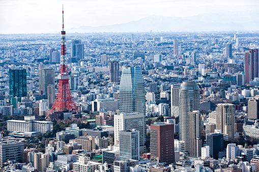 Tokyo Tower「Tokyo's iconic buildings and landscape.」:スマホ壁紙(9)
