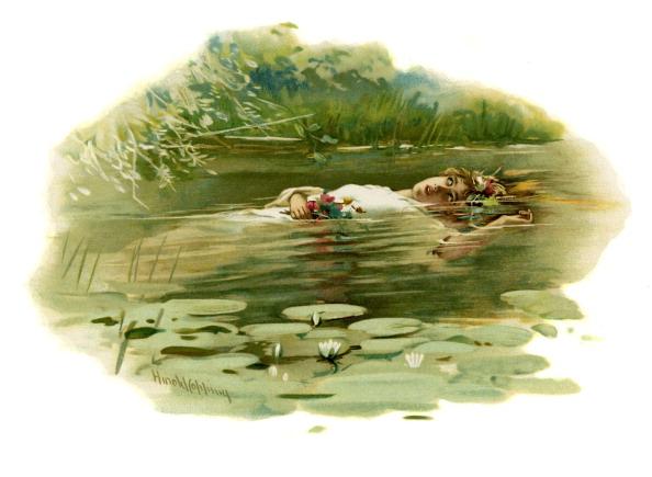 絵「Ophelia drowning in Hamlet, Prince of Denmark」:写真・画像(8)[壁紙.com]