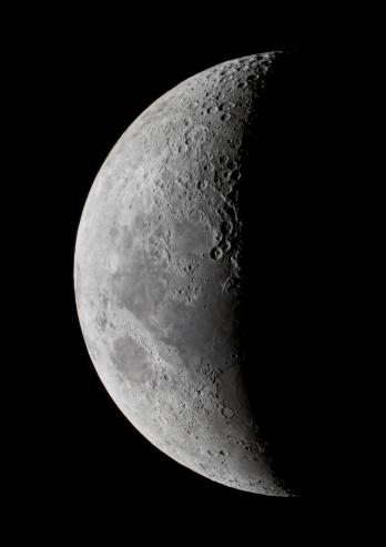 満ちていく月「A saxing crescent moon in high resolution.」:スマホ壁紙(2)