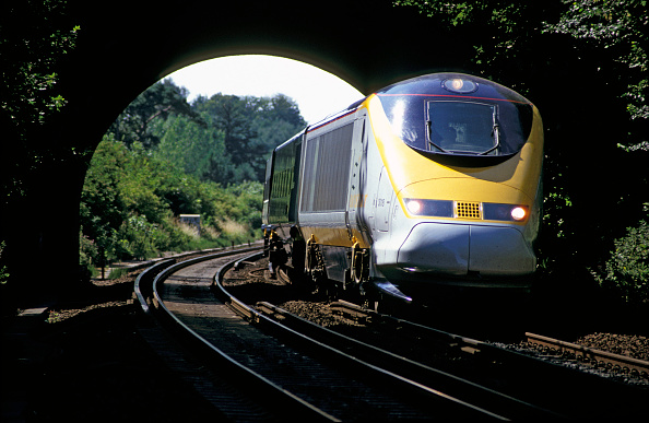 Finance and Economy「Eurostar on the third rail electric system in Kent. 1995」:写真・画像(12)[壁紙.com]