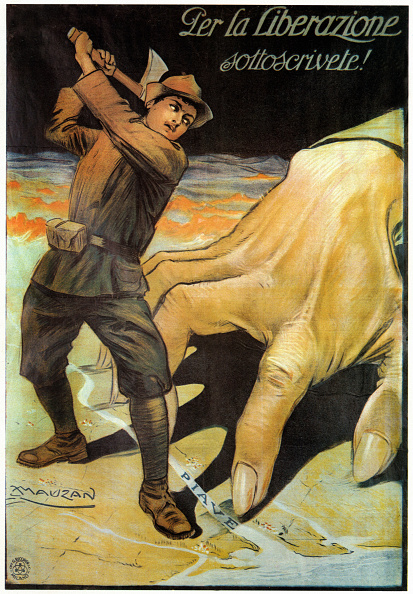 Fototeca Storica Nazionale「ITALY - 1917: First World War, poster for fund raising for Italian alpine troops that fight on Piave river」:写真・画像(5)[壁紙.com]