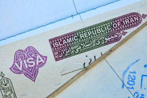 Iranian Culture「Iranian visa stamp in a passport」:スマホ壁紙(12)