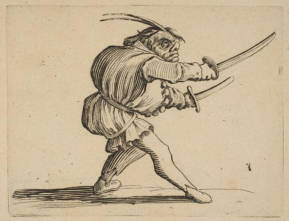 Etching「The Duelliste Aux Deux Sabres (The Duelist With Two Sabres)」:写真・画像(2)[壁紙.com]