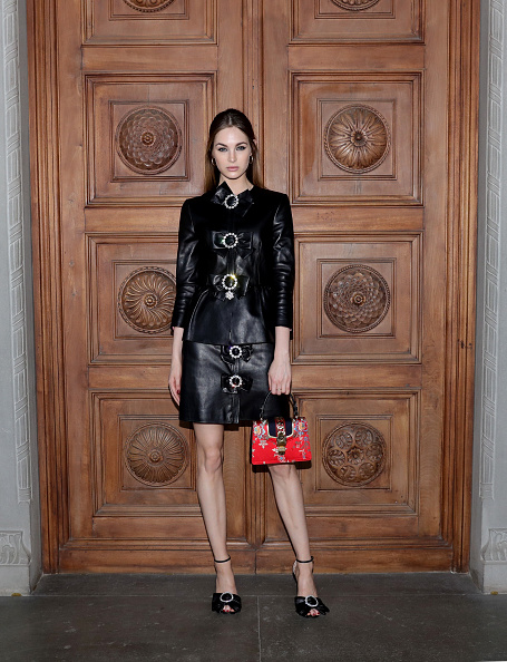Leather Jacket「Gucci Cruise 2018 - Arrivals」:写真・画像(11)[壁紙.com]