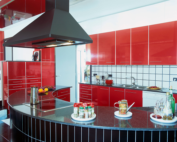 Stove「View of a hood over an elegant kitchen counter」:写真・画像(17)[壁紙.com]