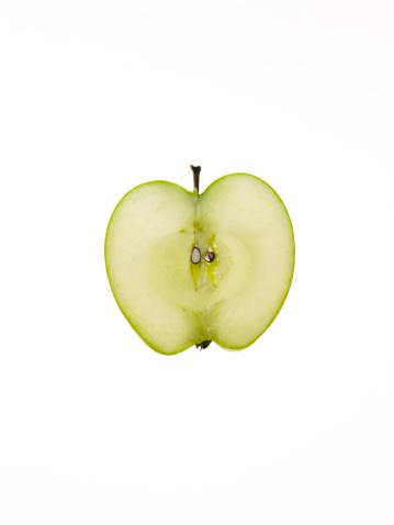 Digital Composite「Apple slice on white background」:スマホ壁紙(15)