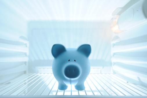 Refrigerated Section「Blue piggy bank in refrigerator」:スマホ壁紙(16)