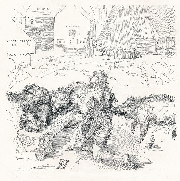 飼育動物「'The Prodigal Son', c1497,」:写真・画像(6)[壁紙.com]