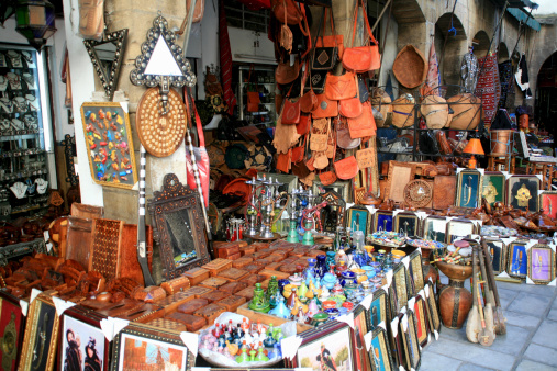 Gift Shop「Gift shop in a street market, Marrakesh, Morocco」:スマホ壁紙(16)