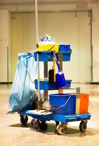 Sweeping「Service cart with cleaning accessories - cleaning kit」:スマホ壁紙(9)