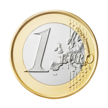 Silver Colored「Euro coin (+clipping path)」:スマホ壁紙(14)