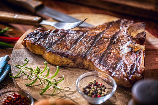 Porterhouse Steak「Roasted BBQ T-Bone Steak」:スマホ壁紙(2)