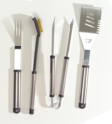 Barbecue Grill「Chrome BBQ tool set」:スマホ壁紙(5)