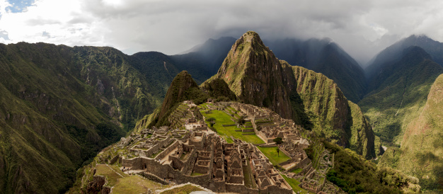 Peru「Machu Picchu and Surroundings Panorama」:スマホ壁紙(12)