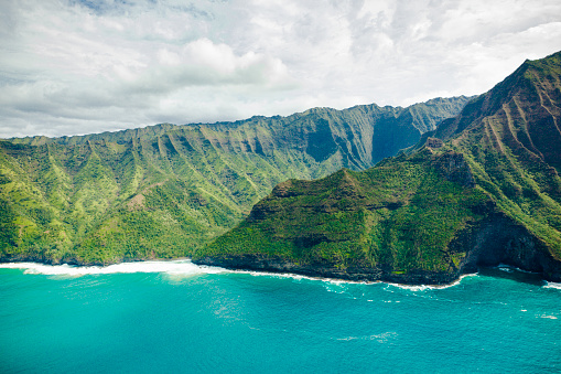 Kalalau Valley「cliffs and green valley kauai, hawaii islands」:スマホ壁紙(8)