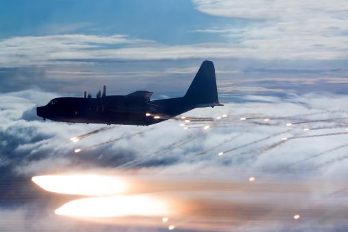 Air Attack「MC-130P Combat Shadow dropping flares.」:スマホ壁紙(19)
