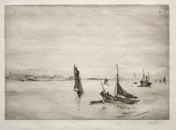 Etching「The Roadway Of La Rochelle. Creator: Gustave Leheutre (French」:写真・画像(15)[壁紙.com]