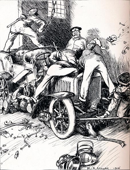 Cartoon「Hints To Motorists, 1906. Artist: Harold Robert Millar」:写真・画像(9)[壁紙.com]