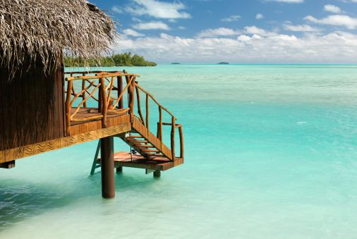 Shallow「Private beach hut at the South Pacific ocean」:スマホ壁紙(3)
