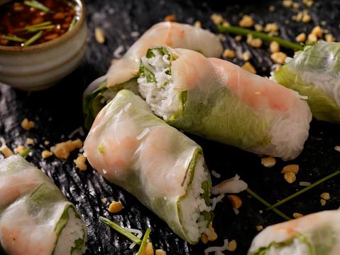 Soy Sauce「Shrimp and Rice Noodle Salad Rolls」:スマホ壁紙(7)