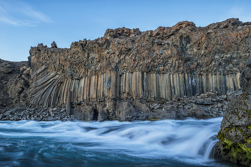 Basalt「The basalt column and waterfall known as Aldeyjarfoss in Northern Iceland」:スマホ壁紙(16)