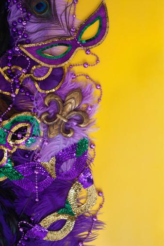 カーニバル「カラフルなマルディグラの背景」:スマホ壁紙(14)