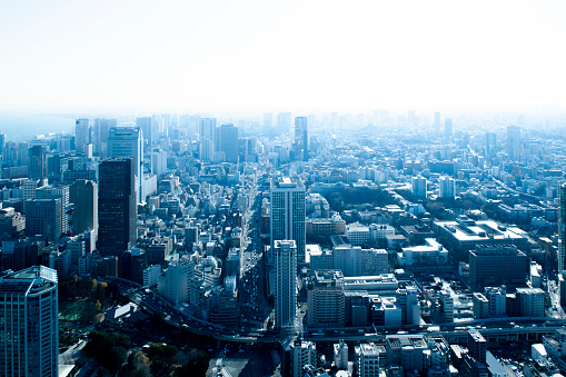 Financial District「City view from Tokyo Tower」:スマホ壁紙(1)