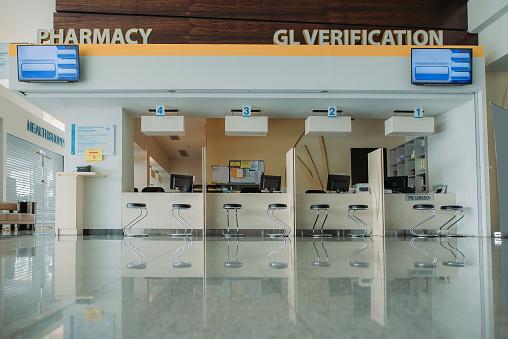 Formal Reception「Pharmacy and registration counter at lobby hospital」:スマホ壁紙(13)