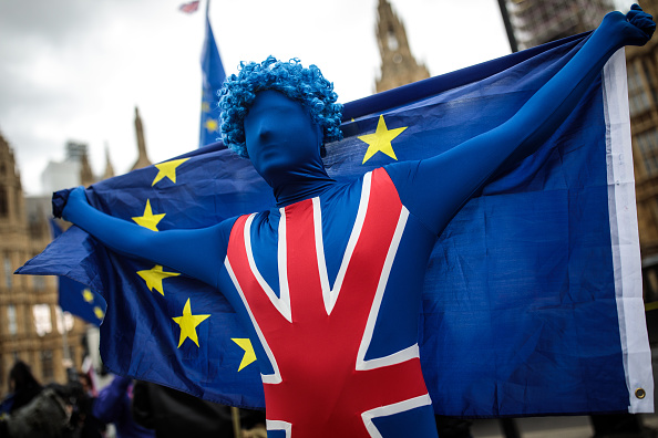 Brexit「Anti-Brexit Campaigners Protest Outside Parliament As MPs Return From Easter Break」:写真・画像(13)[壁紙.com]
