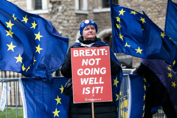 Leave And Remain Demonstrators Protest Ahead Of No Deal Vote:ニュース(壁紙.com)