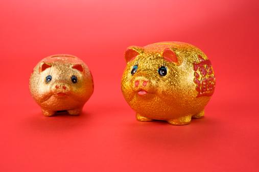 猪「ゴールドの豚」:スマホ壁紙(19)