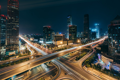 Mode of Transport「Beijing Central Business District at Night」:スマホ壁紙(16)