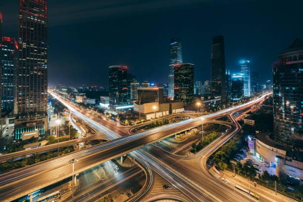 Beijing Central Business District at Night:スマホ壁紙(壁紙.com)