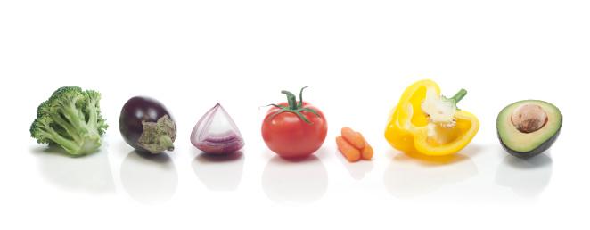 虹「野菜のレインボー」:スマホ壁紙(15)