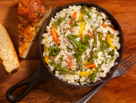 Carrot「Vegetable Risotto with Fresh Parsley and Focaccia Bread」:スマホ壁紙(14)
