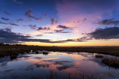 East Lothian「Scotland, East Lothian, Sunset across Aberlady Bay」:スマホ壁紙(16)