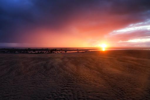 East Lothian「UK, Scotland, East Lothian, sunset at Gosford Bay」:スマホ壁紙(17)