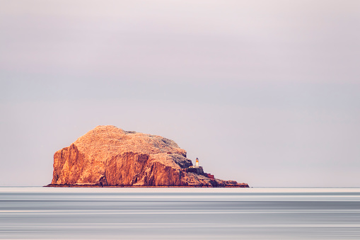 East Lothian「UK, Scotland, East Lothian, North Berwick, Firth of Forth, view of Bass Rock  and lighthouse」:スマホ壁紙(10)