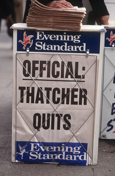 Evening Standard「UK: 25th Anniversary Of Margaret Thatcher Becoming Prime Minister」:写真・画像(3)[壁紙.com]