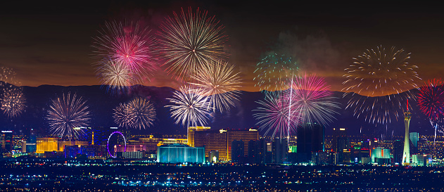Fourth of July「Las Vegas Strip Fireworks」:スマホ壁紙(1)
