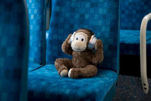 Stuffed Animals「Toy monkey sitting on bus」:スマホ壁紙(18)