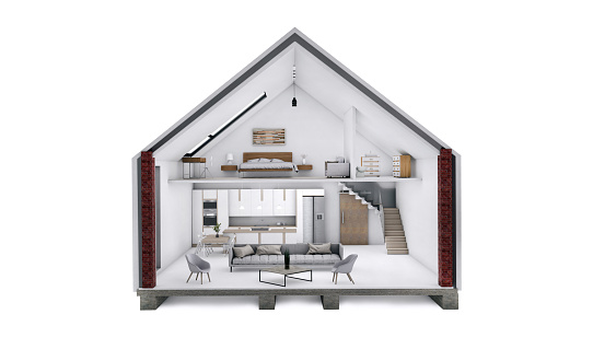 Housing Project「3D render of a beautiful two story house」:スマホ壁紙(14)