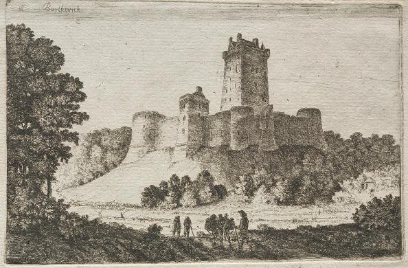 Etching「Borthwick Castle From The East. Creator: John Clerk Of Eldin (British」:写真・画像(1)[壁紙.com]