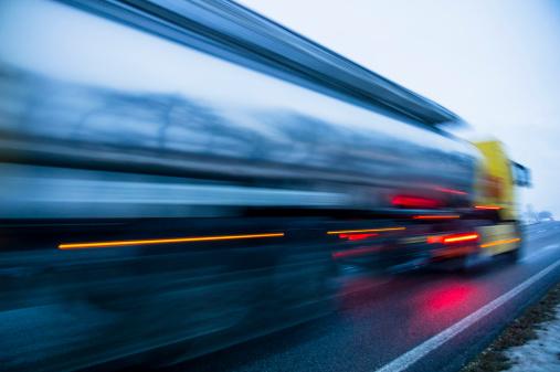 Austria「Austria, Cargo truck moving on country road in winter」:スマホ壁紙(4)