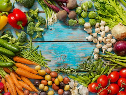 Asparagus「Group of Organic Vegetables」:スマホ壁紙(1)