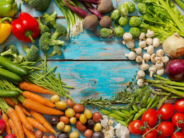 Group of Organic Vegetables:スマホ壁紙(壁紙.com)