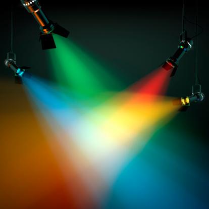カラフル「色とりどりの舞台照明」:スマホ壁紙(4)