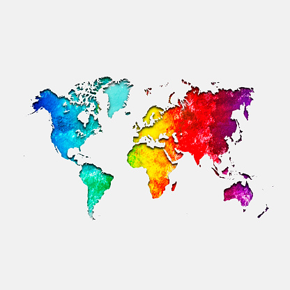 Rainbow「Multi colored world map」:スマホ壁紙(13)