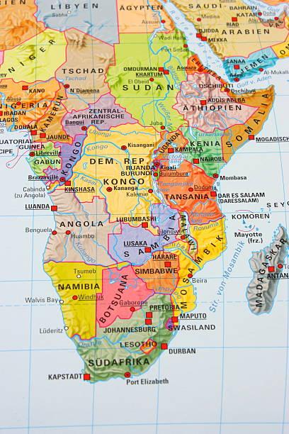 Multi colored Africa map:スマホ壁紙(壁紙.com)